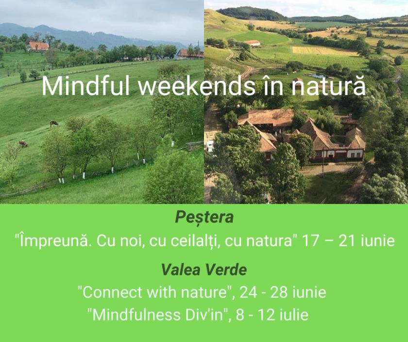 Mindful weekends în natură